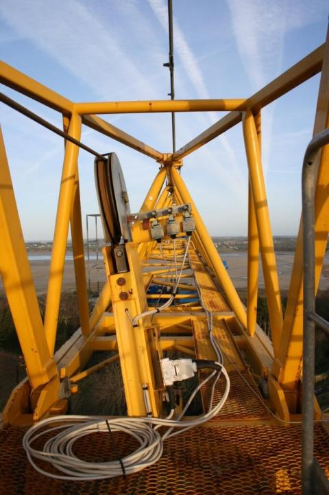 Inside a crane Saint-Ilan