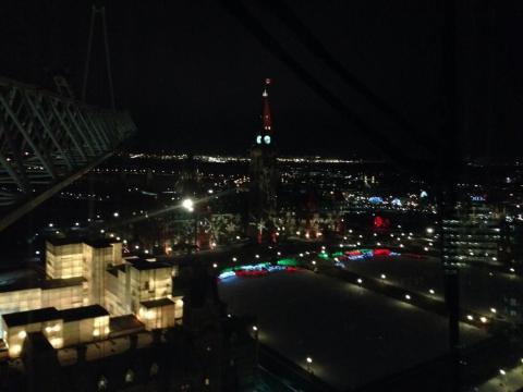 Lights on parliament hill