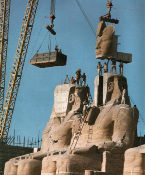 Statue Ramses-the-Great construction-of-Aswan-Dam-1967