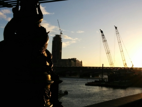 20150405 - London Week - Sunset on the Thames