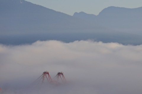 Fog and mountains