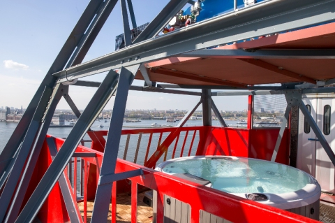 Want a Spa on a top of a crane?