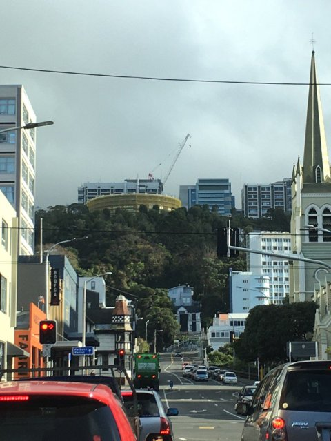 Wellington, above Victoria university