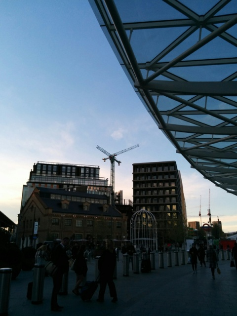 Cranes cross at KingCross